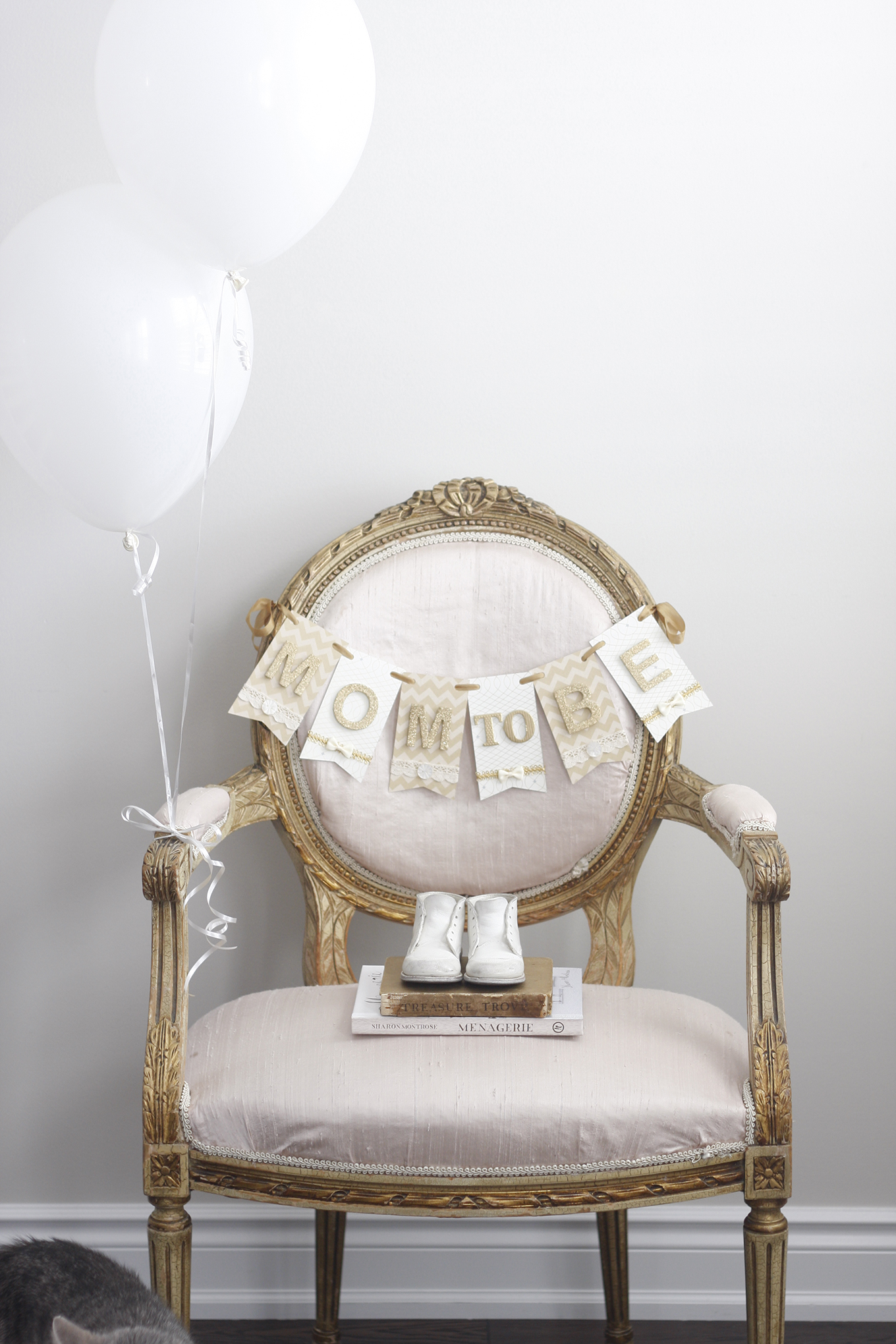 02 paige smith baby shower mom to be chair banner decor