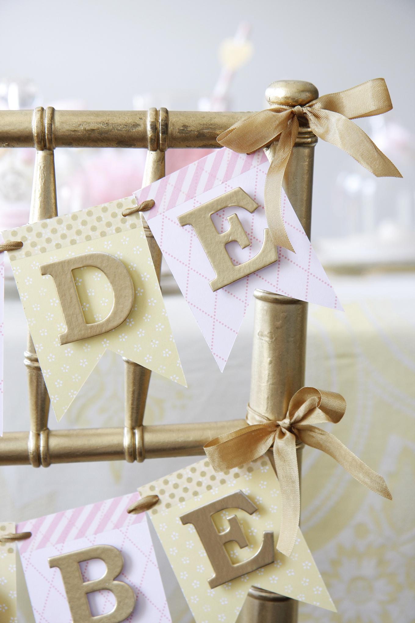wedding shower bride to banner