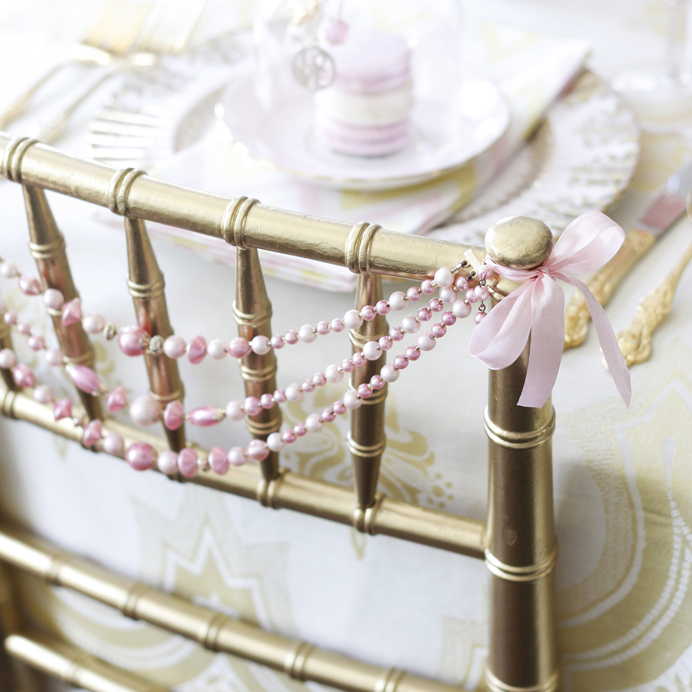 wedding shower chiavari chair decoration