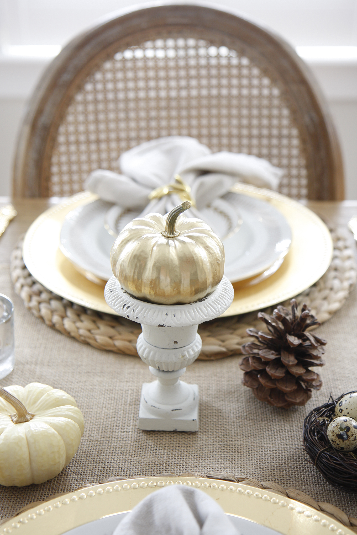 Decorating for Fall Tablescape
