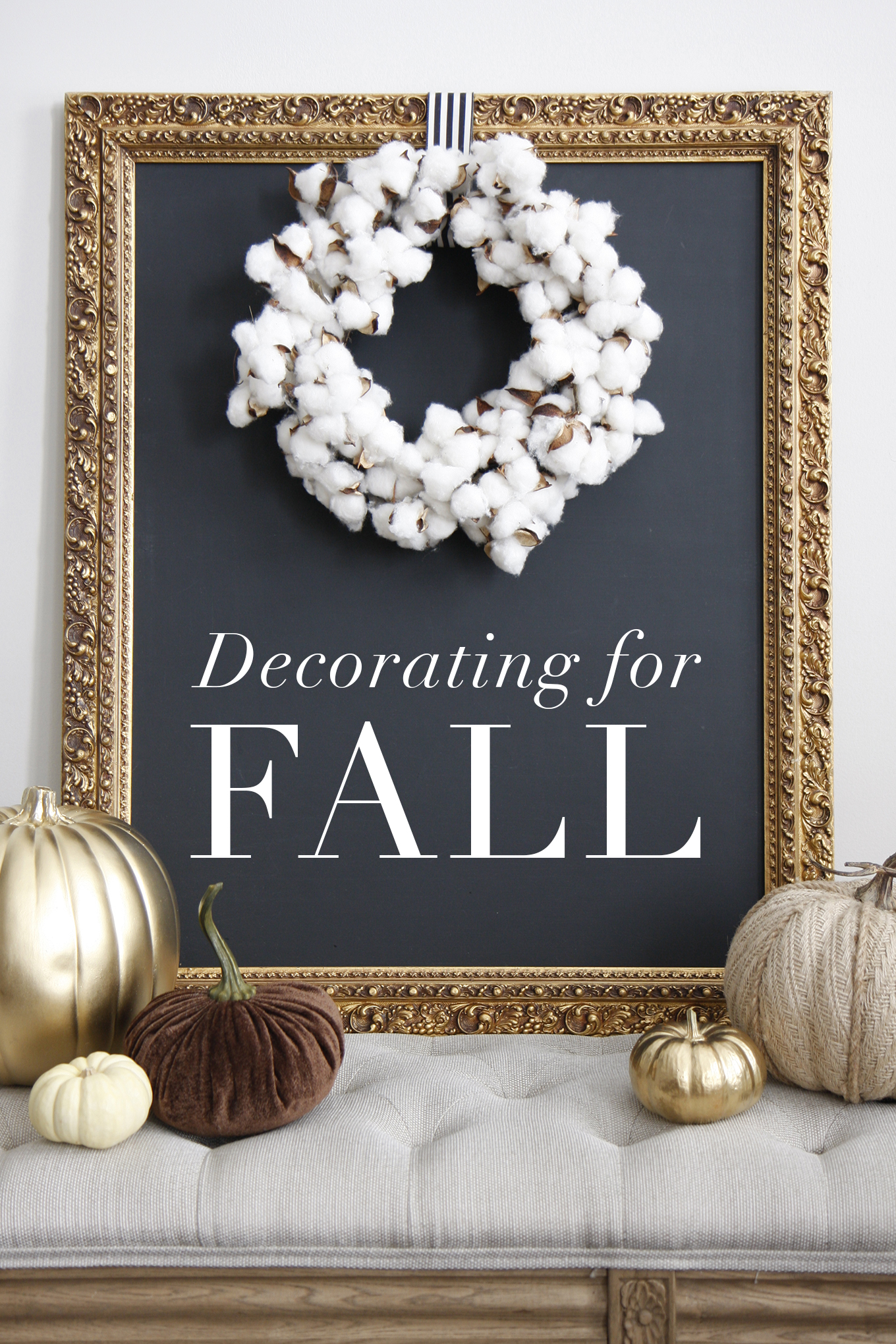 Decorating for Fall title