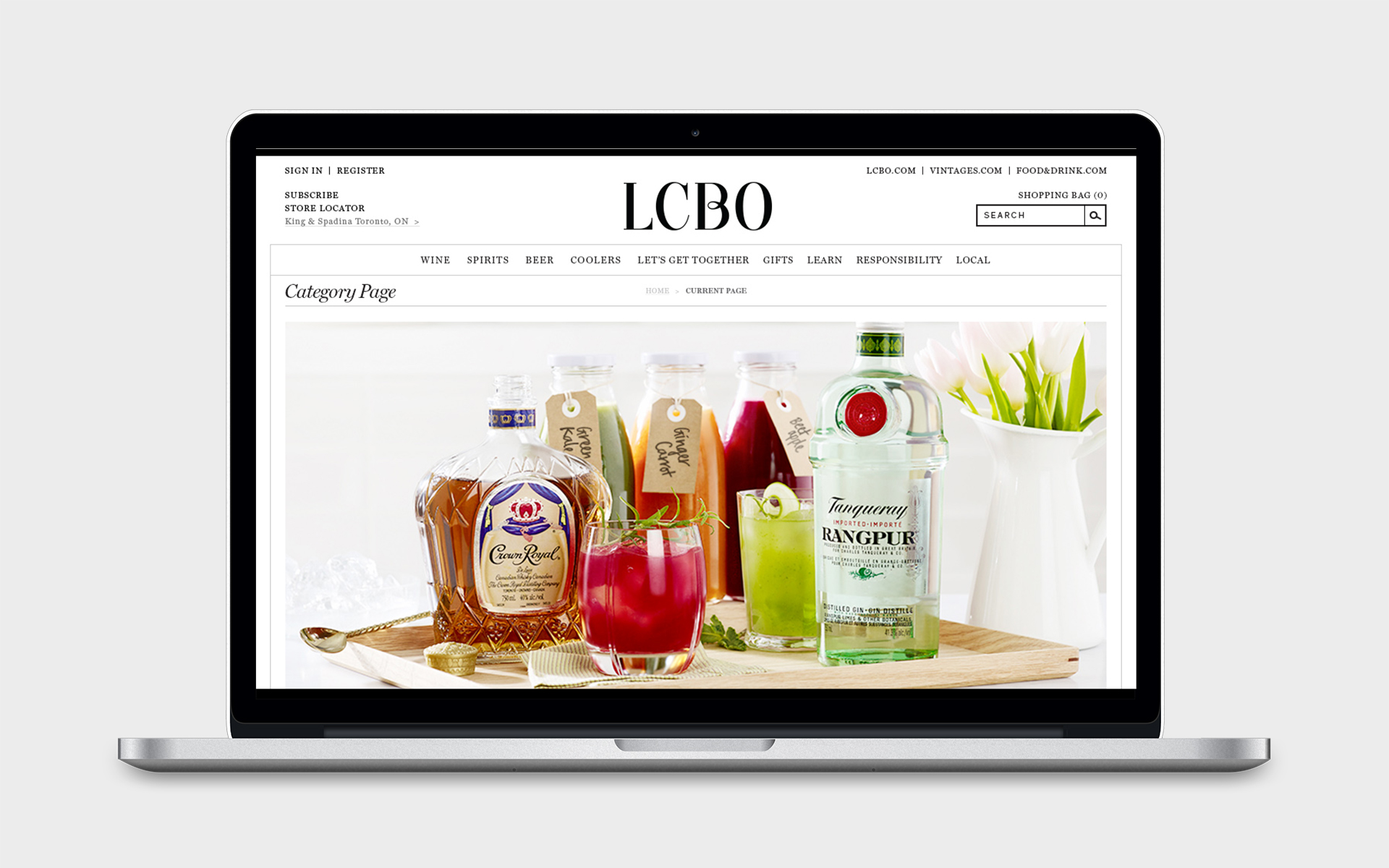 Paige Smith Design LCBO Refresh Your Drink Campaign