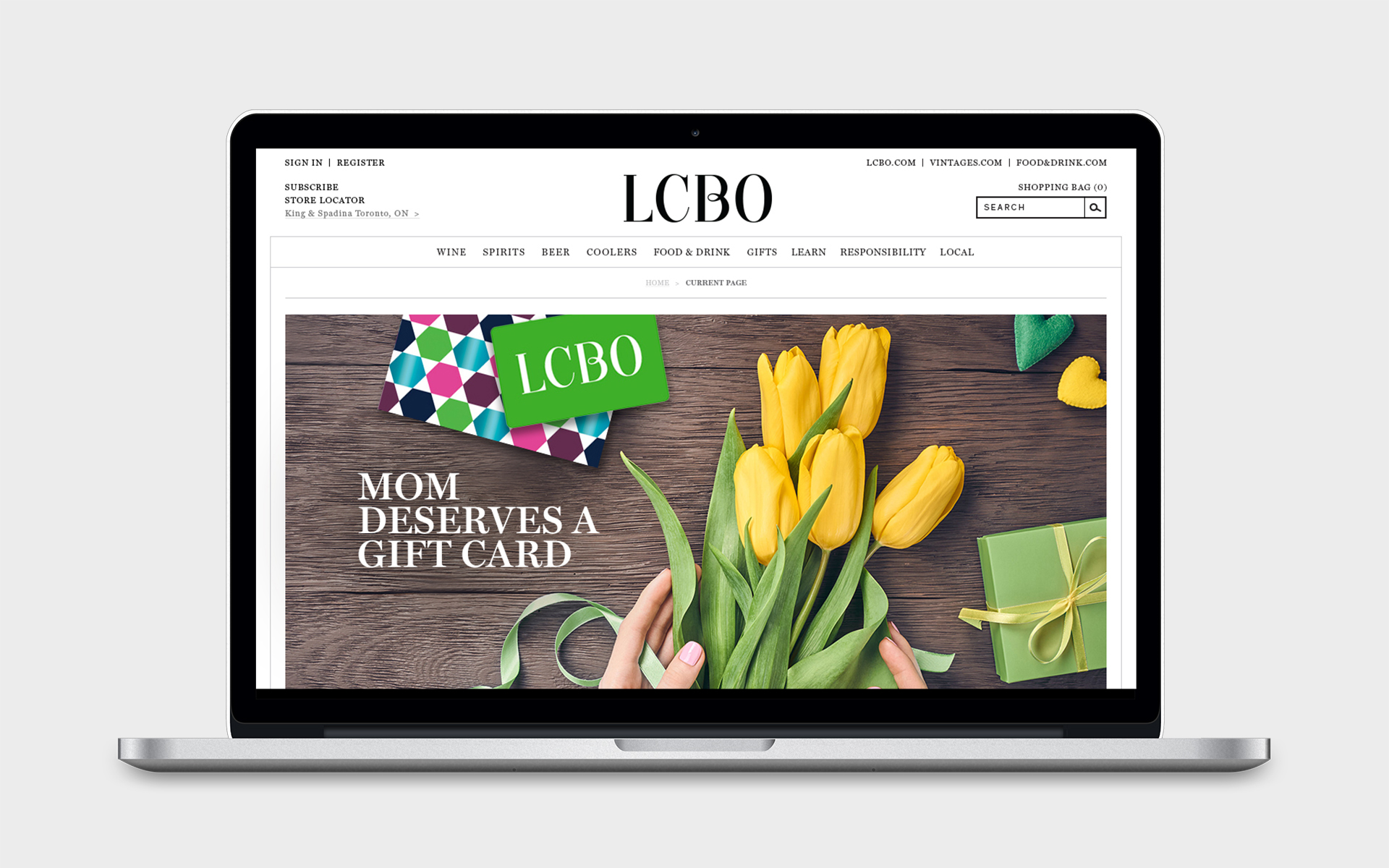 Paige Smith Portfolio LCBO gift cards and carriers