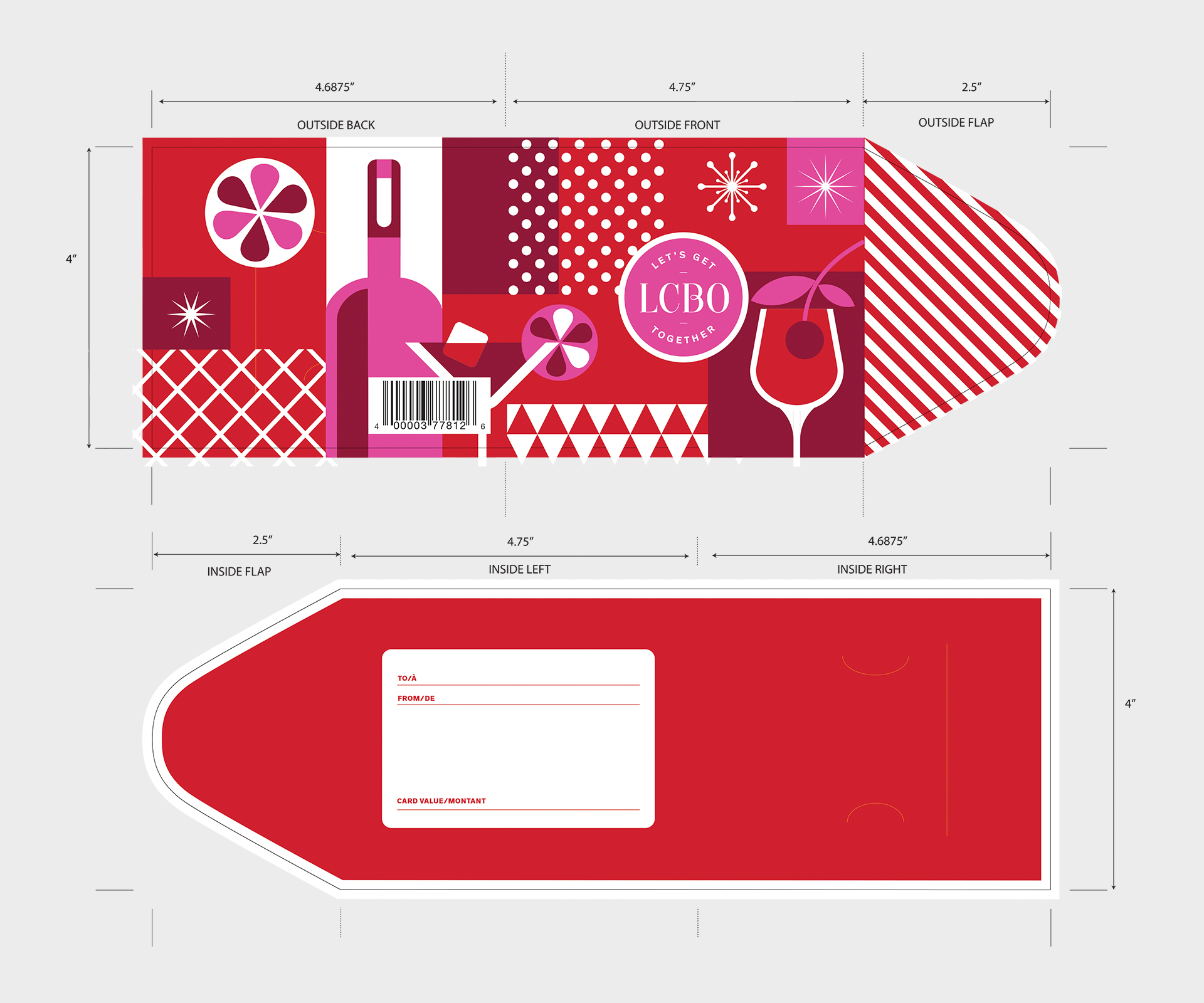 Paige Smith Design LCBO Holiday Gift Card Carrier
