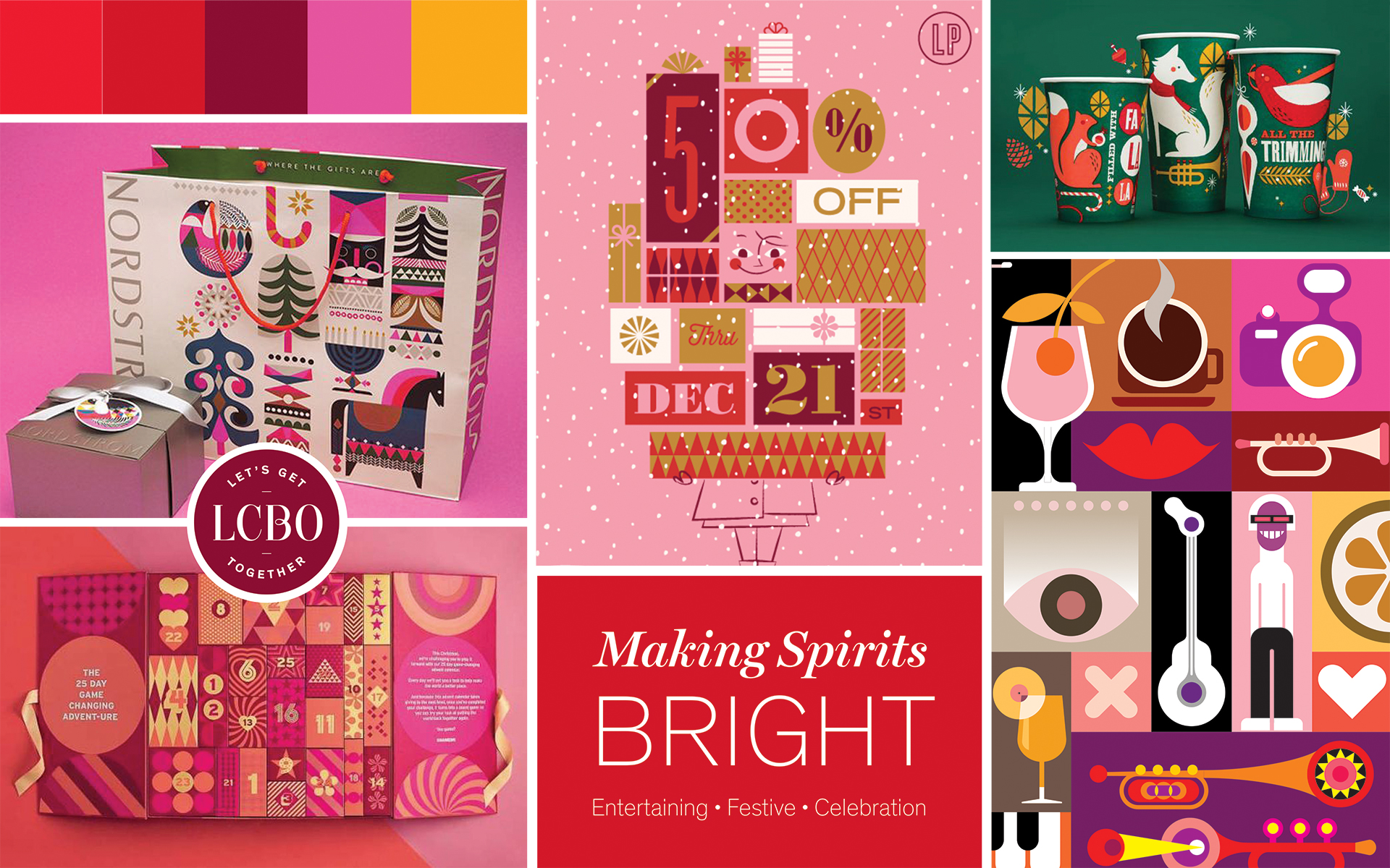 Paige Smith Designs for LCBO Holiday Packaging