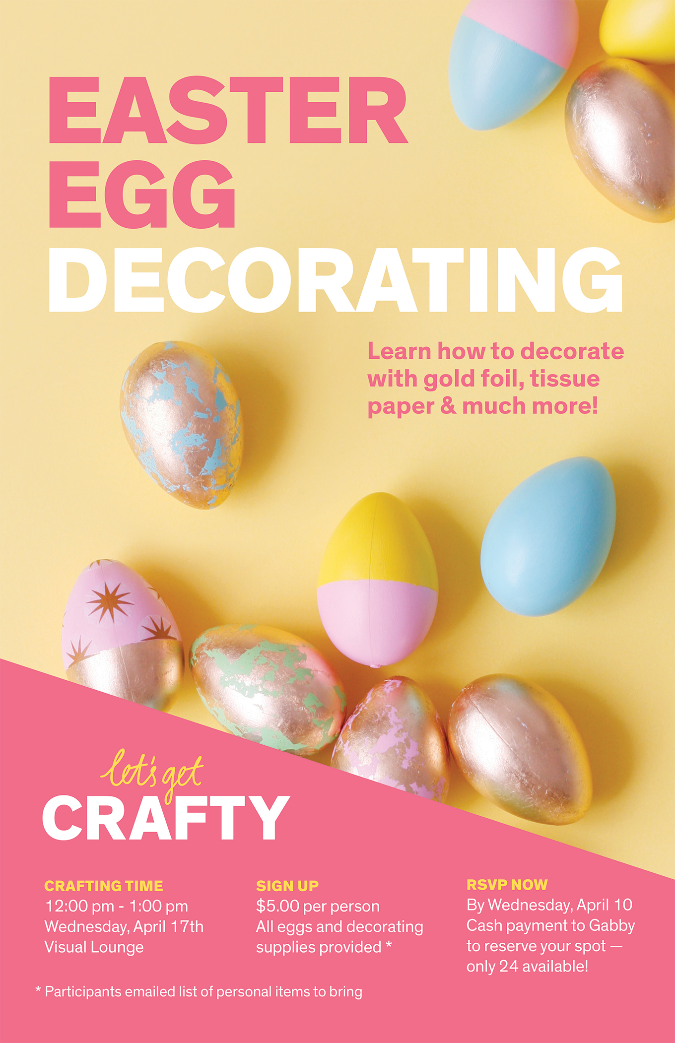 Paige Smith Portfolio Easter Egg Decorating Poster